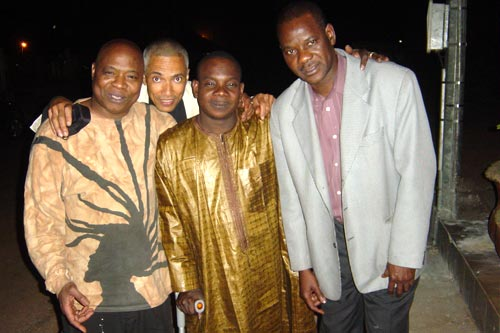 Photo album: Moussa Diallo with musical friends and colleagues.